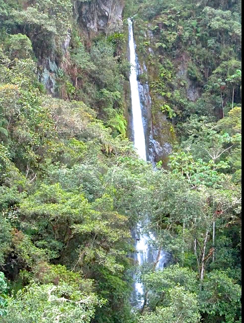 Waterfall mountains above San Blas
