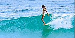 Surf wave at Matanchen nose ride R
