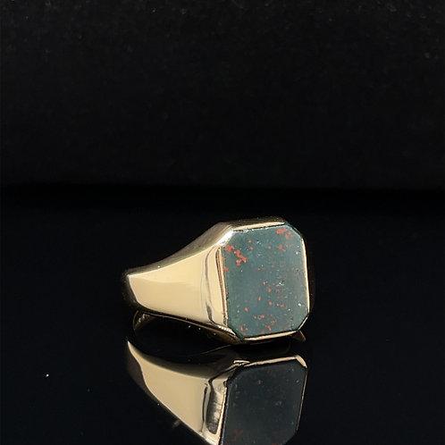 Bloodstone Signet Ring 9ct Gold
