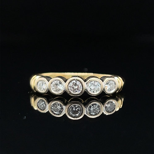 Half Eternity Diamond Ring 18ct Gold