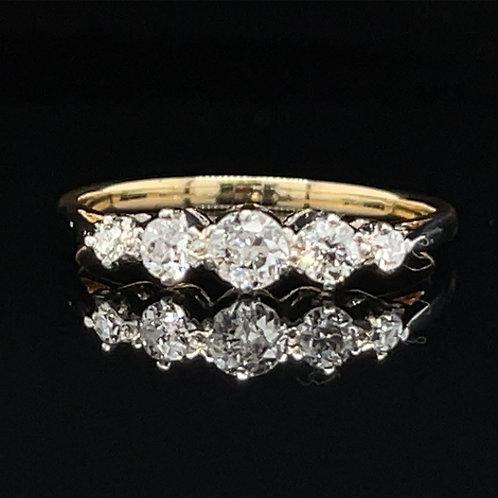 Graduated Five Stone Diamond Ring 18ct Gold
