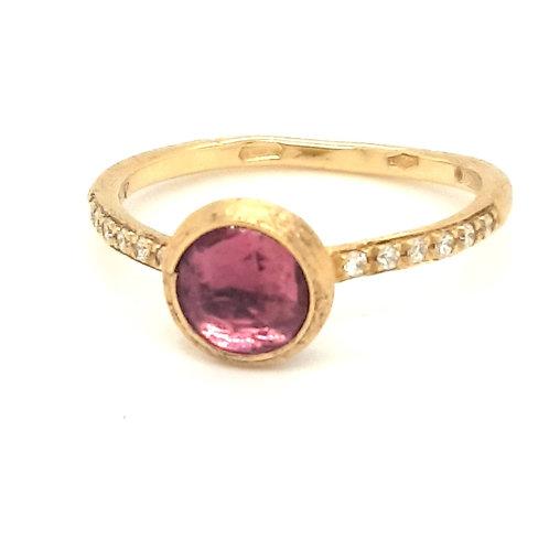 Tourmaline and Diamond Marco Bicego Ring 18ct Yellow Gold