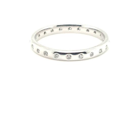 Roman Set Diamond Ring 18ct Gold