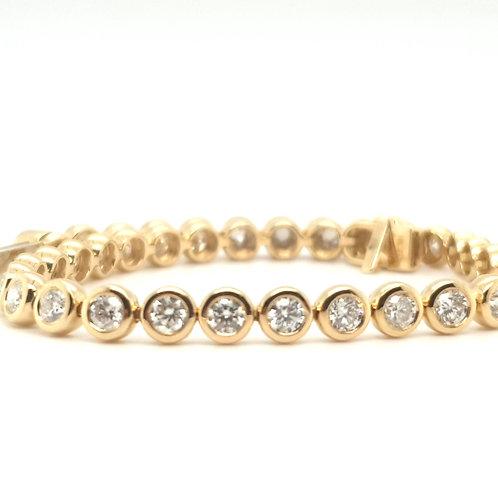 Diamond Tennis Bracelet 5.01 carat 18ct Gold