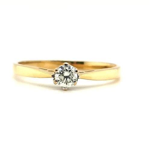 Classic Diamond Solitaire 18ct Gold