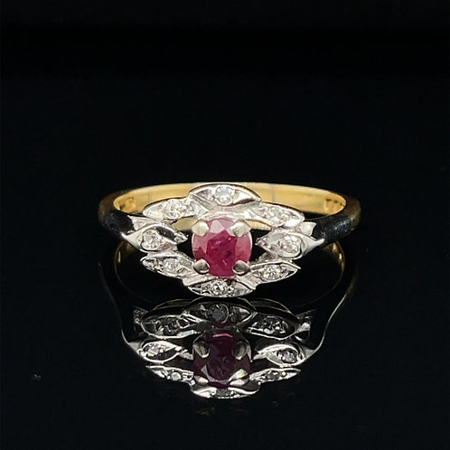 Ruby and Diamond 18ct Gold Ring
