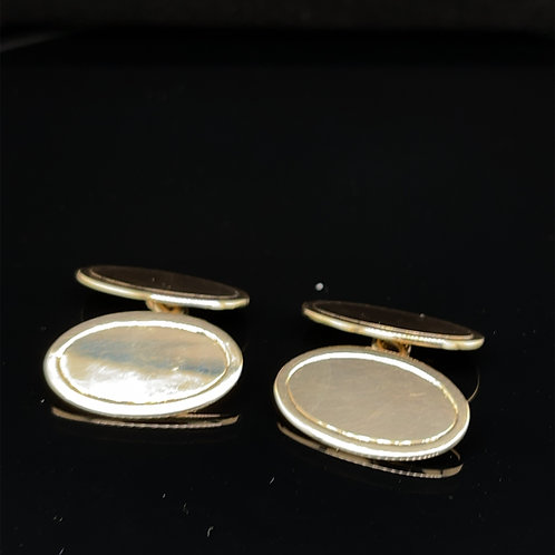 Oval Cufflinks 9ct Yellow Gold
