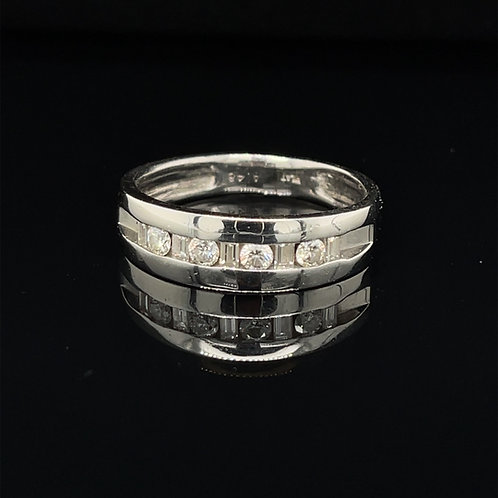 Fancy Platinum and Diamond Ring