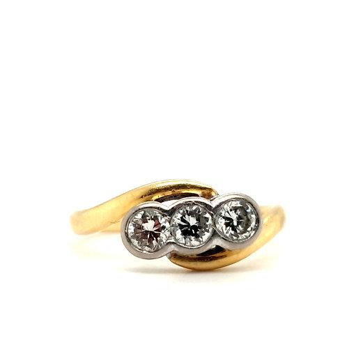 Trilogy Diamond Ring 18ct Gold 0.50 Carat