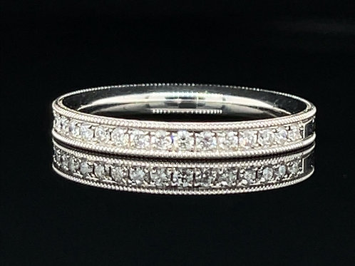 Vintage Style Diamond Ring 18ct White Gold