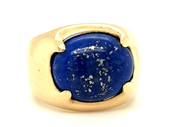 18ct Gold Unusual Statement Ring with Lapis Lazuli Talon Claw Setting
