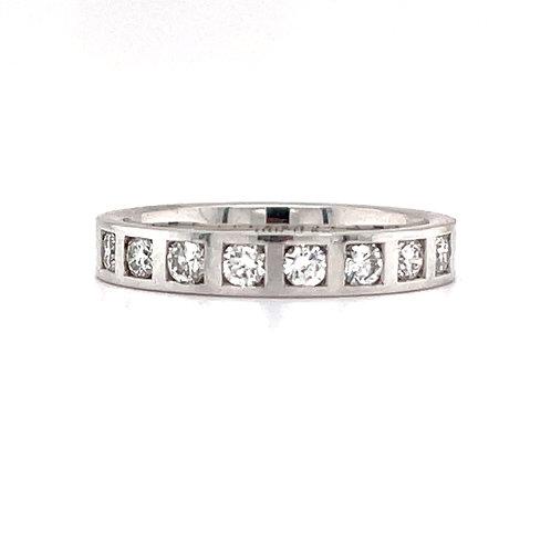 Bespoke Diamond Band 18ct White Gold