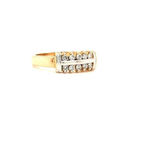 Double Row Diamond Eternity Ring 18ct Gold