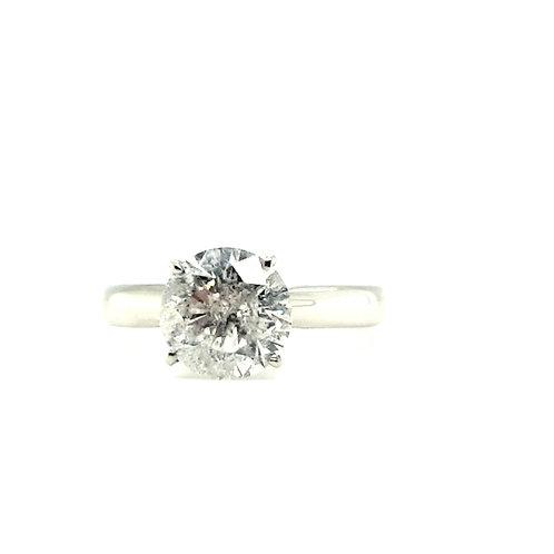 2.01 carat Diamond Platinum Solitaire