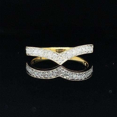 Wishbone Diamond Band 18ct Yellow Gold