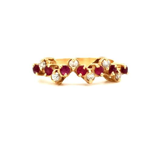 Bespoke Ruby and Diamond Eternity Ring 18ct Gold