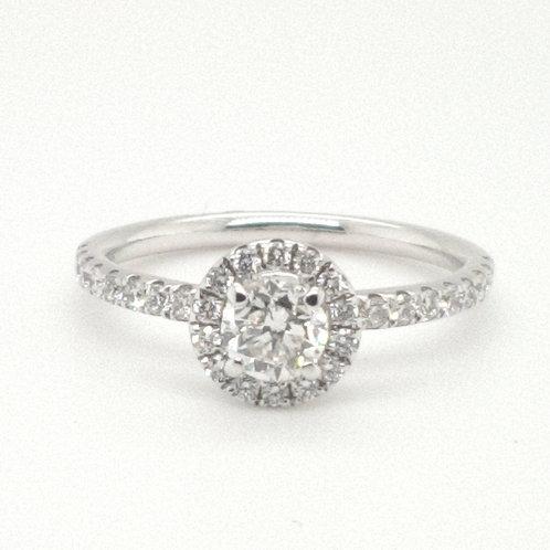 Diamond Halo Ring 18ct White Gold