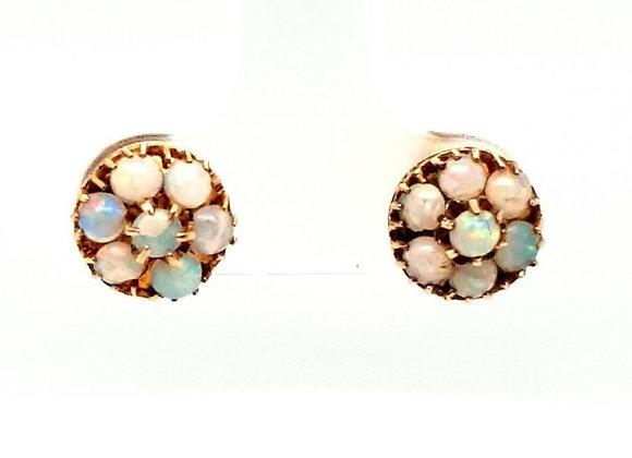 Vintage Opal Cluster Earrings