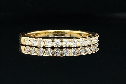 Pretty Diamond Claw Set Ring 0.31 Carat 18ct Yellow Gold