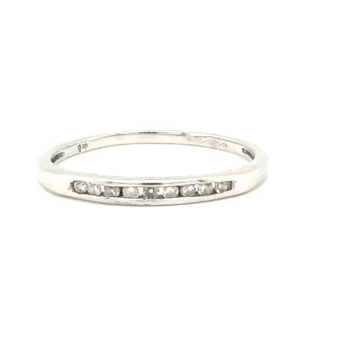 Channel Set Diamond Ring Platinum