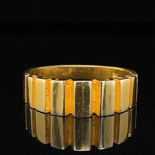 Architectural Design 14ct Yellow Gold Ring
