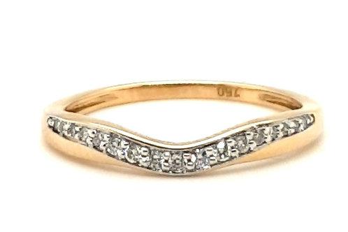 Curved Diamond Set Band 18ct Yellow Gold