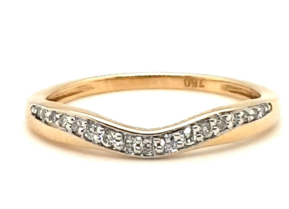 Curved Diamond Set Band 18ct Yellow Gold