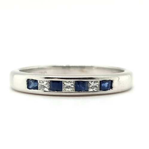 Sapphire and Diamond Ring 18ct Gold