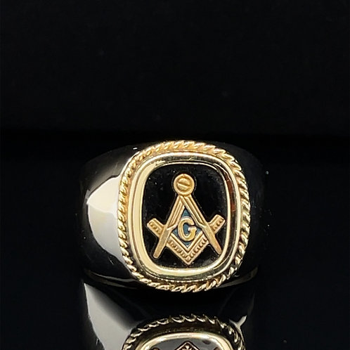 Masonic 14ct White Gold Ring