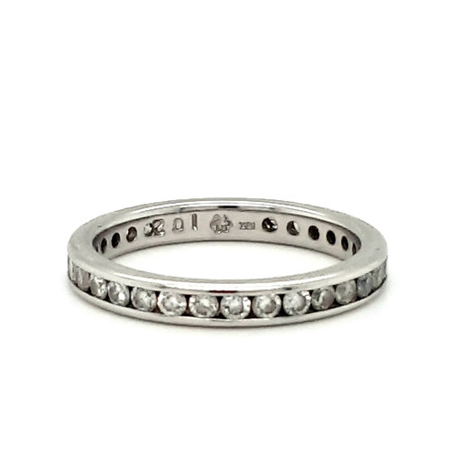 1CT of Diamonds Full Eternity Ring set in 18ct Gold size P