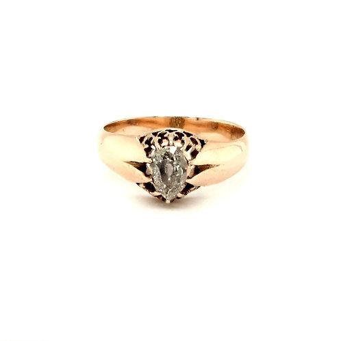 Antique Pear Shape Diamond  Ring 10ct Gold