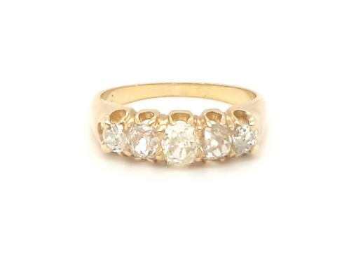 Antique Old Cut Diamond Eternity Ring 18ct Gold