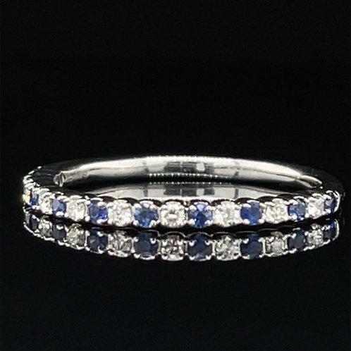 Sapphire and Diamond Platinum Ring