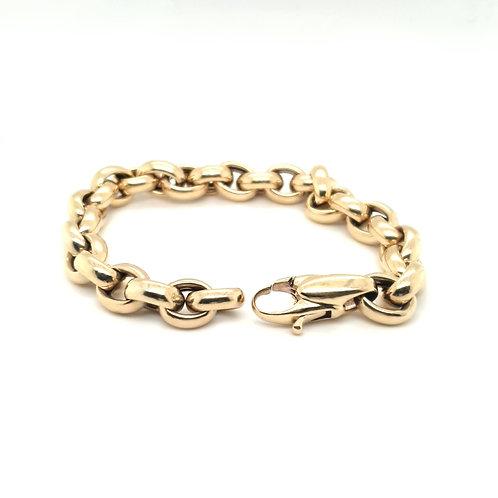 Fancy Link Italian Bracelet 9ct Yellow Gold