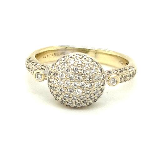 A Fancy Pave' Diamond Set  Ring 18ct Gold