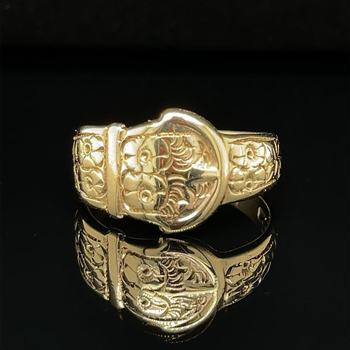 Large Graduating Buckle Ring 9ct Gold