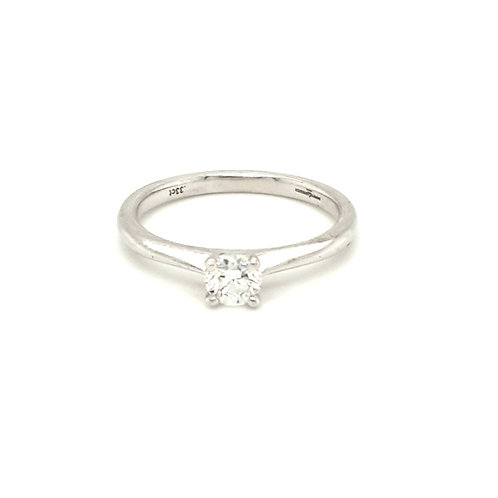 Diamond Solitaire Engagement Ring 18ct White
