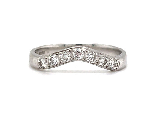 Designer Shaped Diamond Band 18ct White Gold