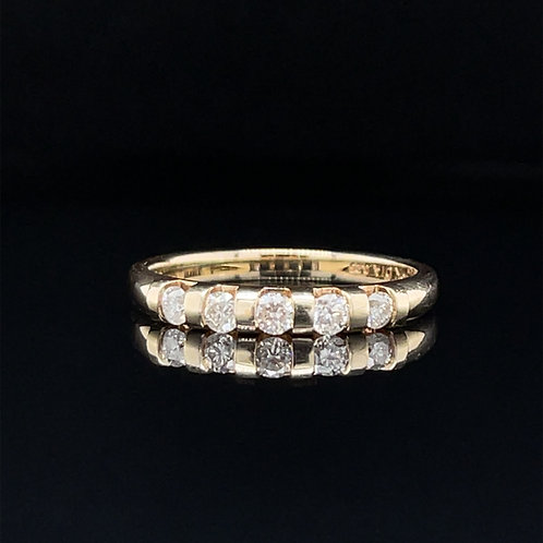 Diamond Eternity Ring 9ct Yellow Gold 0.25 carat
