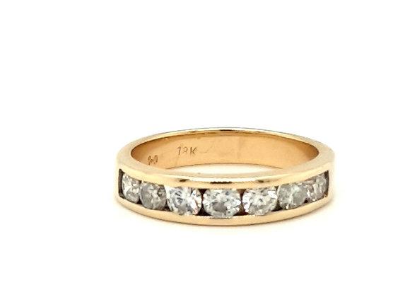 18ct Yellow Gold Diamond Half Eternity Ring 1ct Total of Diamonds