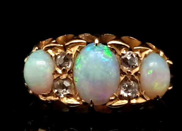 Antique Opal and Diamond 18ct Birmingham 1897