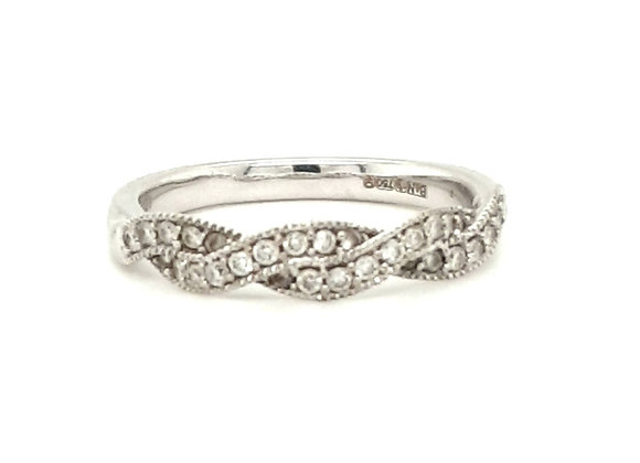 A Plated Diamond Ring 18ct Gold