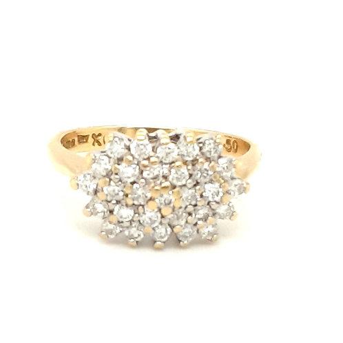 Multi Diamond Cluster Ring 18ct Gold