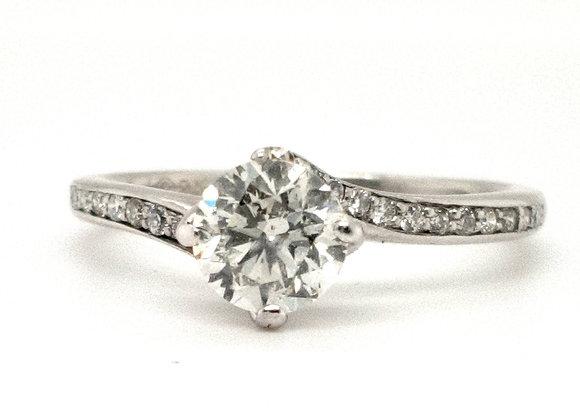 Fancy Twist Diamond Ring 9ct White Gold Ring