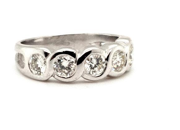 Diamond Eternity Ring 18ct White Gold
