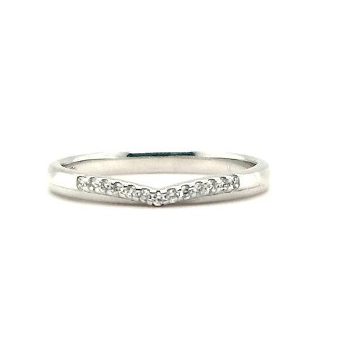 Diamond Wishbone 18ct White Gold