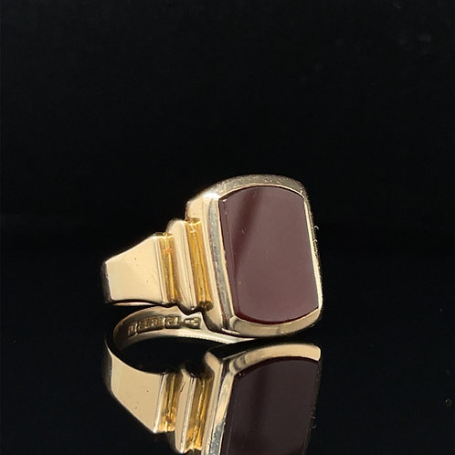 Carnelian 15ct Yellow Gold Signet Ring Chester 1825