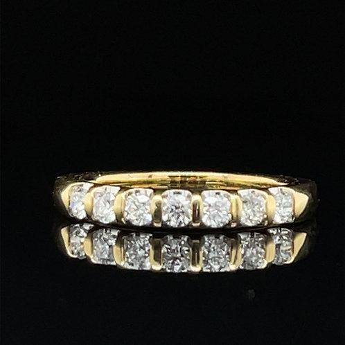 Scalloped Diamond Band 18ct Yellow Gold 0.33 carat
