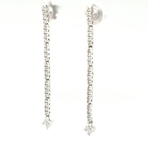 Diamond Drop Earrings 18ct Gold