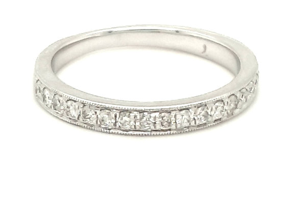 Grain Set Diamond Ring 18ct Gold
